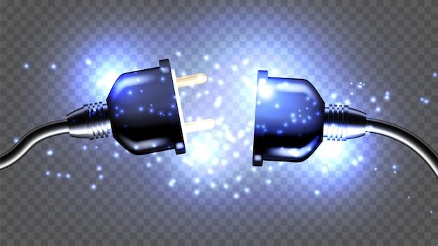 Plugue elétrico desconectado