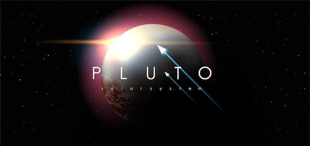 Plutão no fundo do espaço