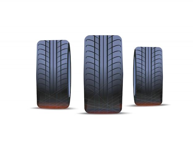 Pneu de carros, pneu isolado