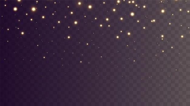 Pó de fundo de natal pó png pó de ouro mágico brilhante partículas de poeira fina e brilhante caem