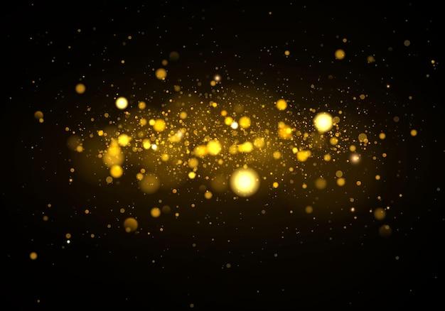 Pó e partículas mágicas cintilantes
