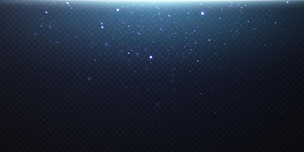 Pó mágico cintilante. sobre um fundo preto textural. celebração de fundo abstrato de pequenas partículas de poeira cintilantes e estrelas. efeito mágico festivo