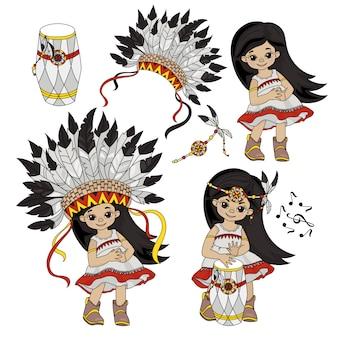 Pocahontas set índios princesa mundo