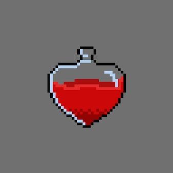 Poção do amor com estilo pixel art