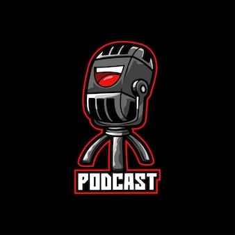 Podcast broadcast mic som de gravação de voz