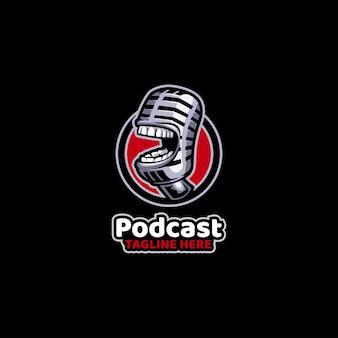 Podcast transmitindo mídia de som, microfone, áudio, rádio