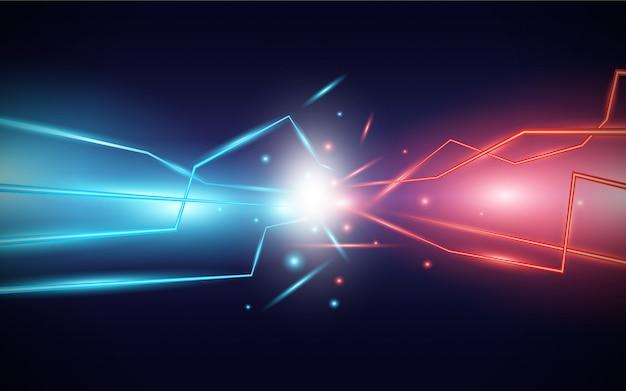 Poder abstrato do fundo do raio de luz