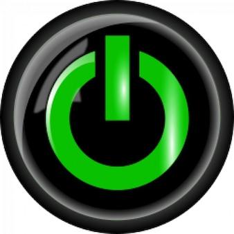 Poder botão preto