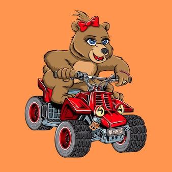 Poder de moto de urso