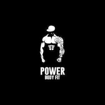 Poder do logotipo de ajuste do corpo