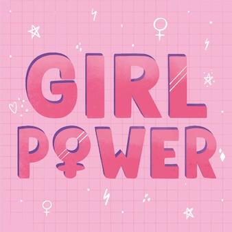 Poder feminino com símbolos de gênero