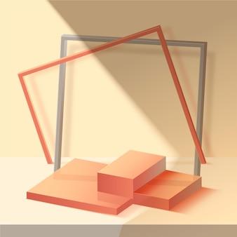 Pódio 3d abstrato monocromático
