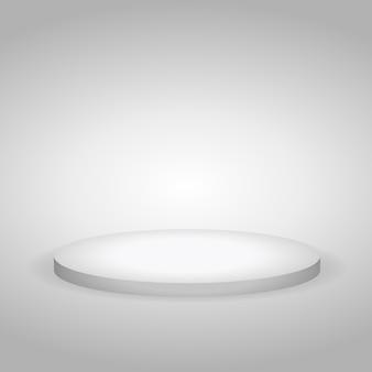 Pódio branco para demonstrações e apresentações
