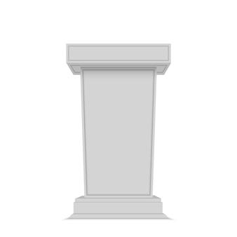 Pódio de alto-falante. suporte tribuna branca tribuna