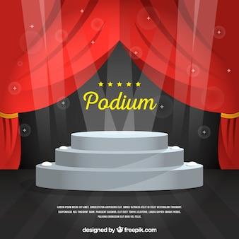 Pódio de palco plano com relâmpago elegante