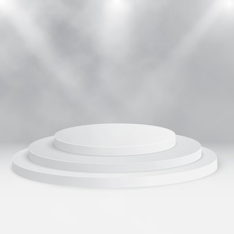 Pódio de palco redondo