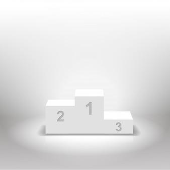 Pódio de vencedores branco para conceitos de negócios