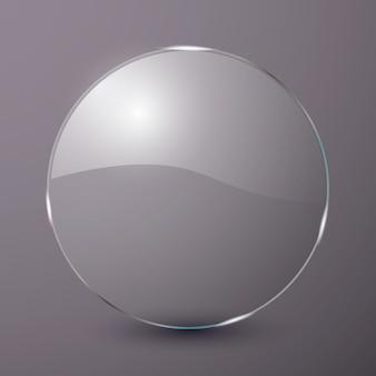 Pódio de vidro, para publicidade.