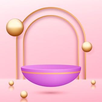Pódio de vitrine de joias 3d realista