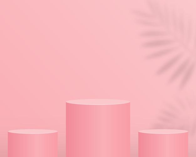 Pódio do cilindro vazio. design para apresentação do produto.