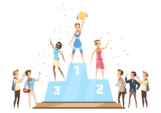 Pódio dos vencedores