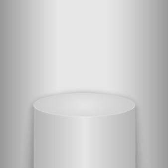 Pódio, pedestal ou plataforma redondos iluminados