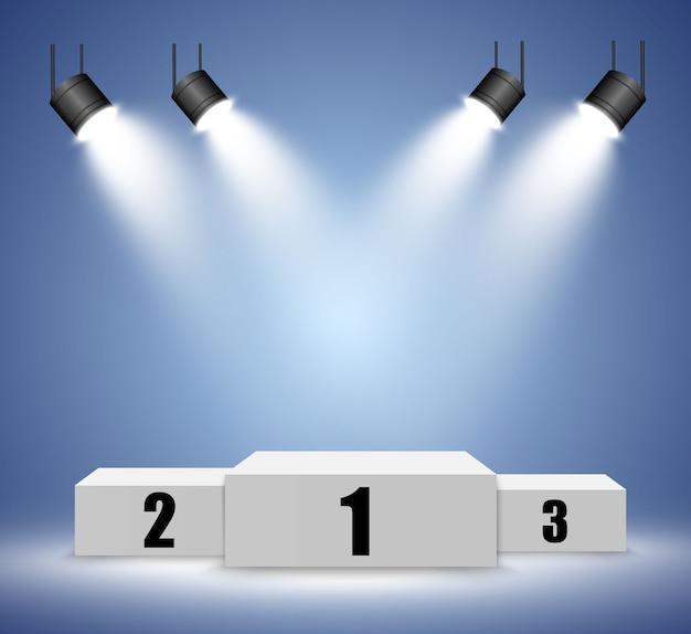 Pódio realista ou plataforma de vencedores