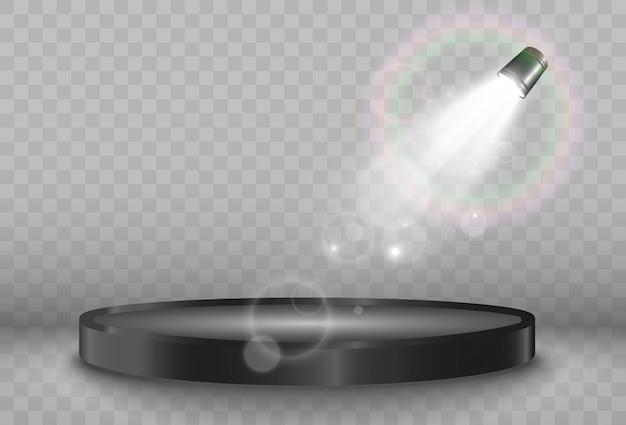 Pódio redondo ou plataforma em um fundo transparente.