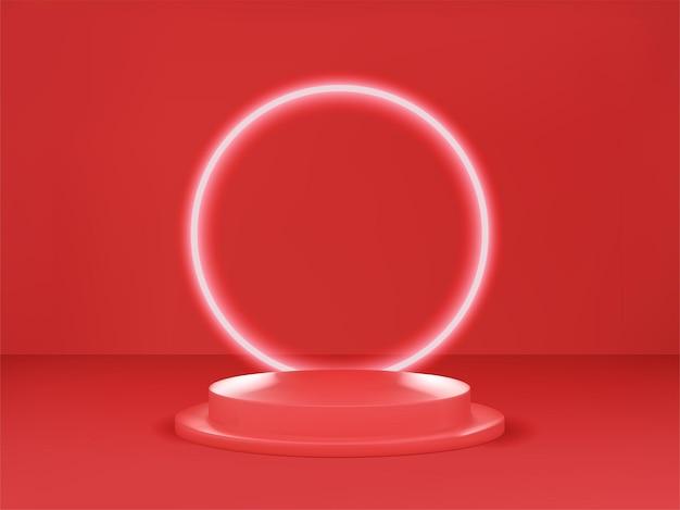 Pódio renderizado em 3d para sua demonstração de produto