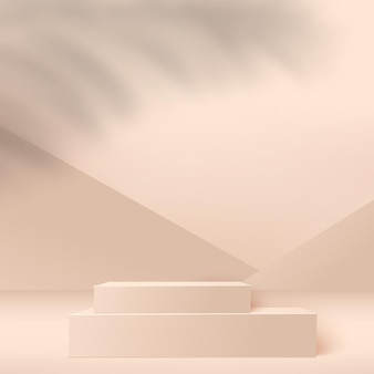 Pódios 3d geométricos rosa abstratos.
