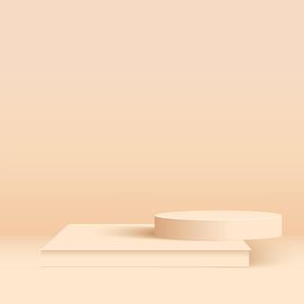 Pódios 3d geométricos.