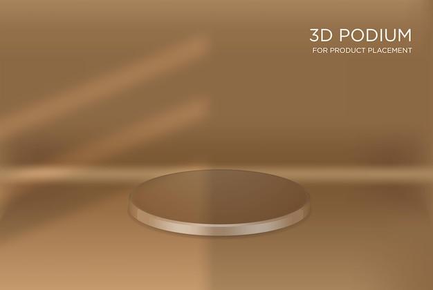 Pódios geométricos 3d para colocação de produtos com sombra sobreposta