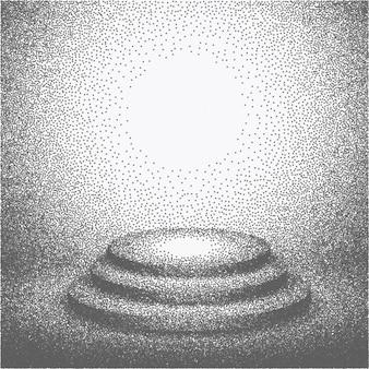 Podium estúdio fez com pontos de retícula