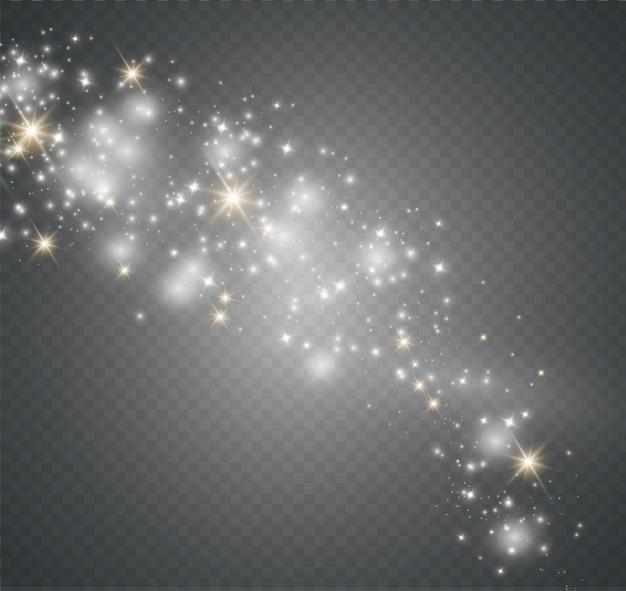 Poeira em um background.bright transparente estrelas