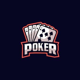 Poker esports design de logotipo