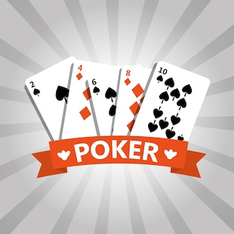 Poker playing cards deck casino casino banner