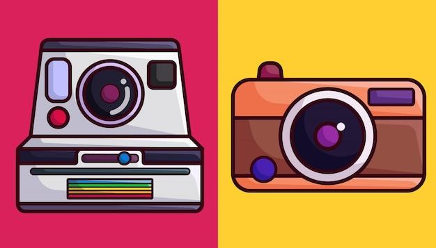 Polaroid e câmera analógica