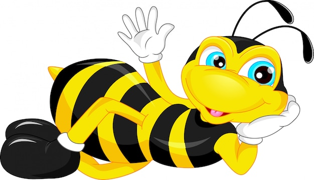 Polegar de desenho animado de abelha