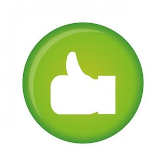 Polegar para cima imagem de ícone de gesto de mão