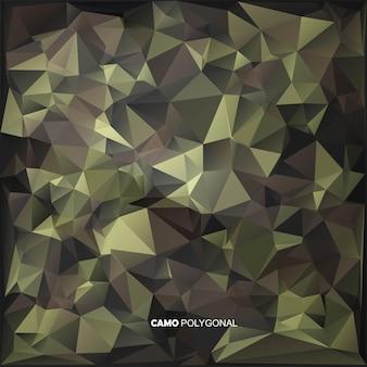 Poli baixo abstrato feito de formas de triângulos geométricos.