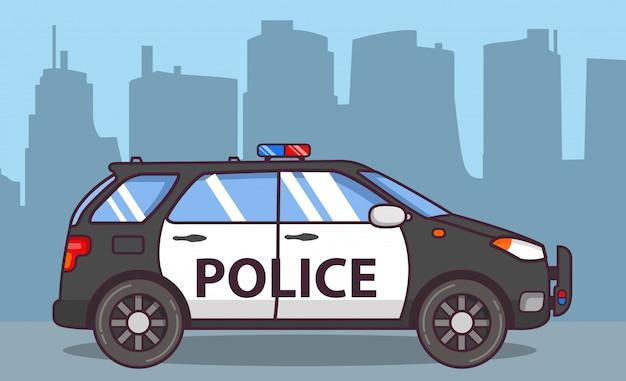 Polícia de carro off-road suv.