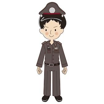 Polícia tailandesa de uniforme