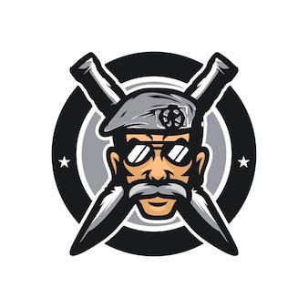 Policiais vector ilustração de ícone de mascote