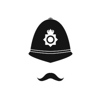 Policial britânico de capacete