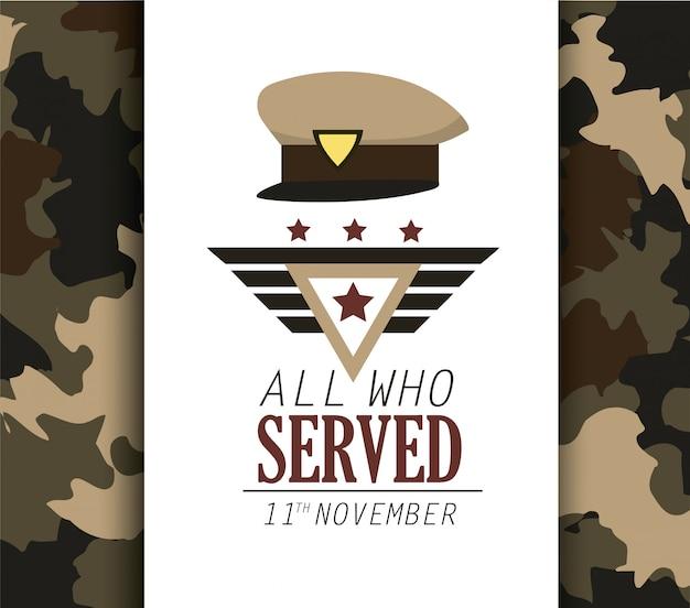 Policial cap símbolo para o dia dos veteranos