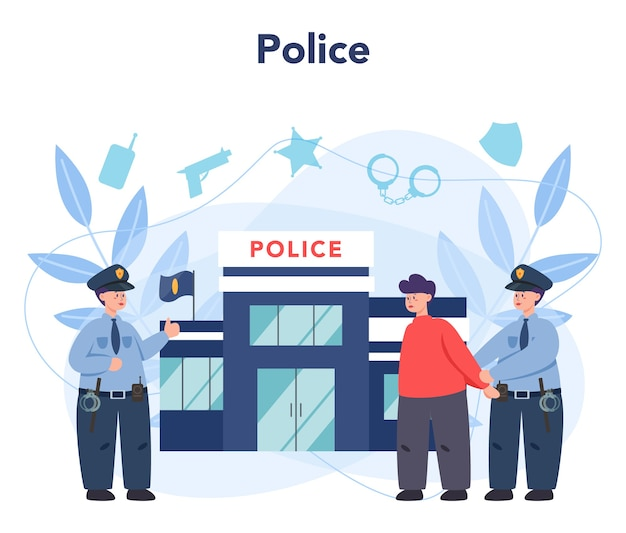 Policial de uniforme.
