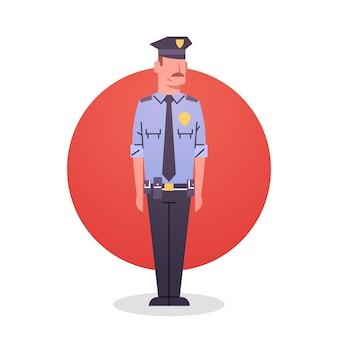 Policial ícone macho policial guarda segurança
