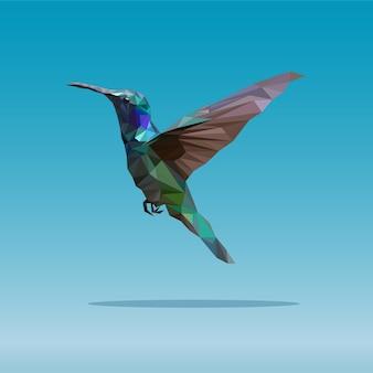 Poligonal geométrica de ave