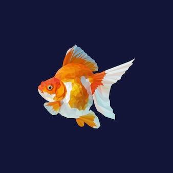 Poligonal geométrica de vetor de peixe