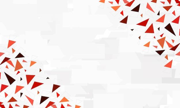 Poligonal vermelho abstrato em fundo cinza. design para o seu site.